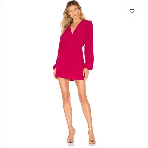 X REVOLVE Paulette Dress in Fuchsia